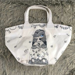 Marc Jacobs White Floral Long Hair Girl Bag